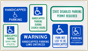 Reserved Parking Signs